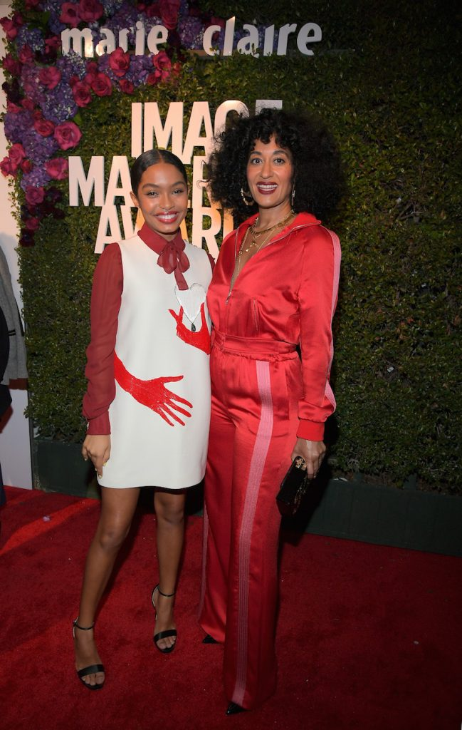 Yara Shahidi and Tracee Ellis Ross attend the Marie Claire's Image Makers Awards 2018 on January 11, 2018 in West Hollywood, California