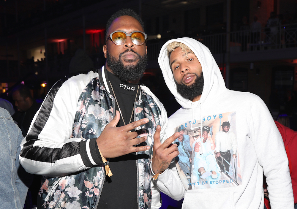 Lance Fresh (L) and NFL player for New York Giants, Odell Beckham Jr. at Rolling Stone Live: Minneapolis presented by Mercedes-Benz and TIDAL on February 2, 2018 in Minneapolis, Minnesota