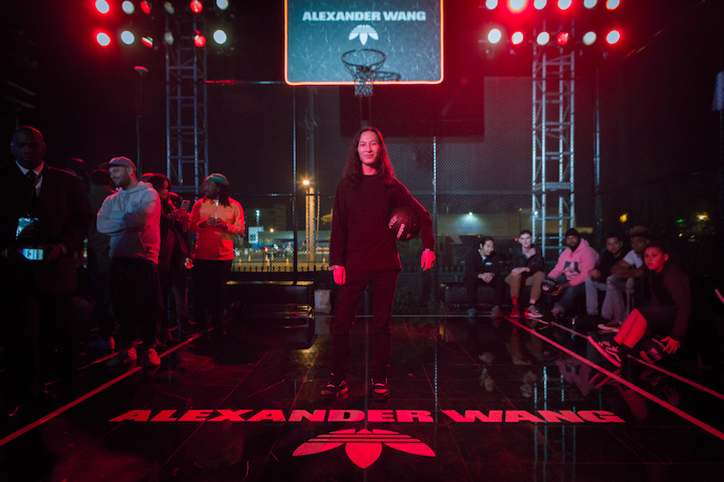 Alexander Wang takes to the court in his honor at  adidas' 747 Warehouse St Event in Los Angeles