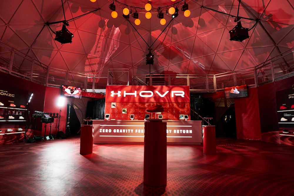 the launch of Under Armour's new UA HOVR footwear at UA HOVR House LA