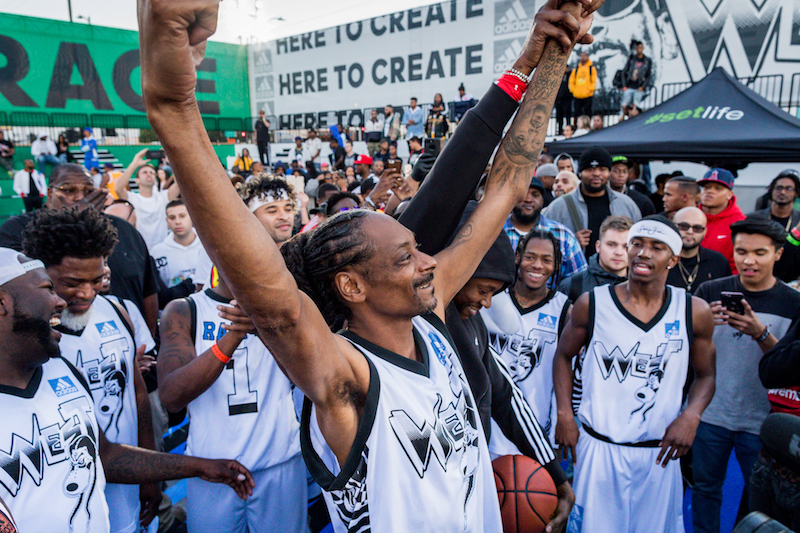 Snoop Dogg and 'Team' at adidas' 747 Warehouse St Festival in Los Angeles