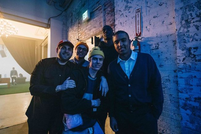 Jonah Hill, Donta Hill, Mikey Alfred, and friends at adidas x Na-kel Smith 3 Rooms
