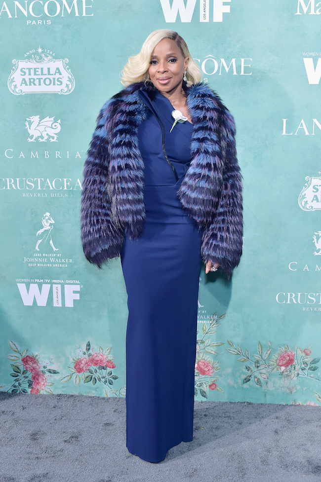 Mary J. Blige attends Women In Film Pre-Oscar Cocktail Party presented by Max Mara and BMW at Crustacean Beverly Hills on March 2, 2018 in Beverly Hills, California