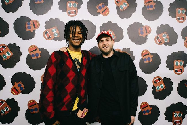 Na-kel Smith and Jonah Hill at adidas x Na-kel Smith 3 Rooms