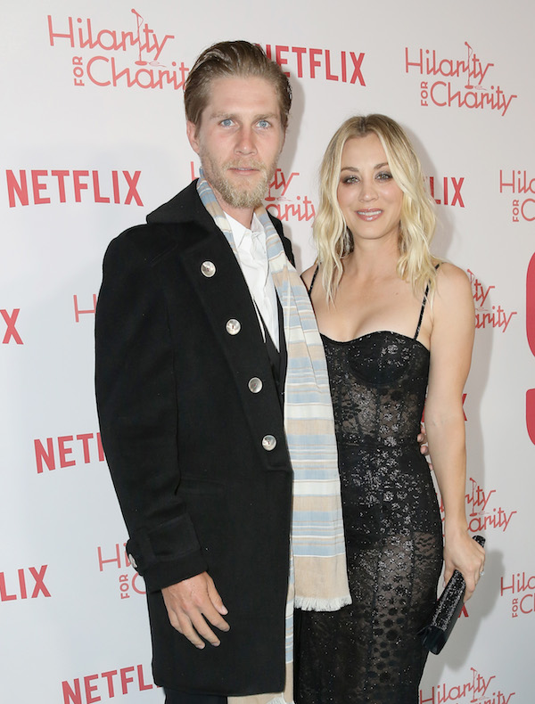 Karl Cook and Kaley Cuoco attend Seth Rogen's Hilarity For Charity at Hollywood Palladium on March 24, 2018 in Los Angeles, California