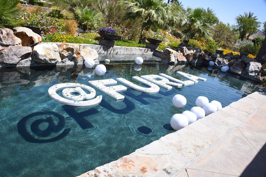 FURLA x COACHELLA: Furla Beach Club at Citrus Estate on April 14, 2018 in Palm Desert, California