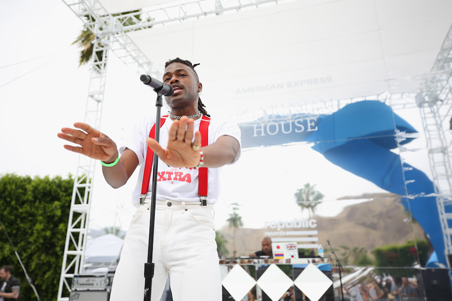 Duckworth performs at the American Express Platinum House at Parker Palm Springs on April 15, 2018 in Palm Springs, California