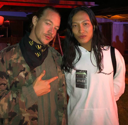 Diplo and Alexander Wang attends Cash App's Friends Keep Secrets on April 14, 2018 in Indio, California