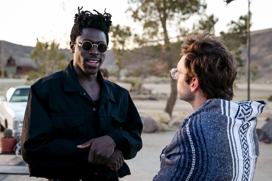 Moses Sumney, and Cameron Bird at the Dior Sauvage Launch:  in Joshua Tree , Pioneertown Motel