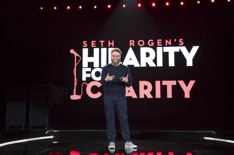 Seth Rogen at Seth Rogen's Hilarity For Charity at Hollywood Palladium on March 24, 2018 in Los Angeles, California