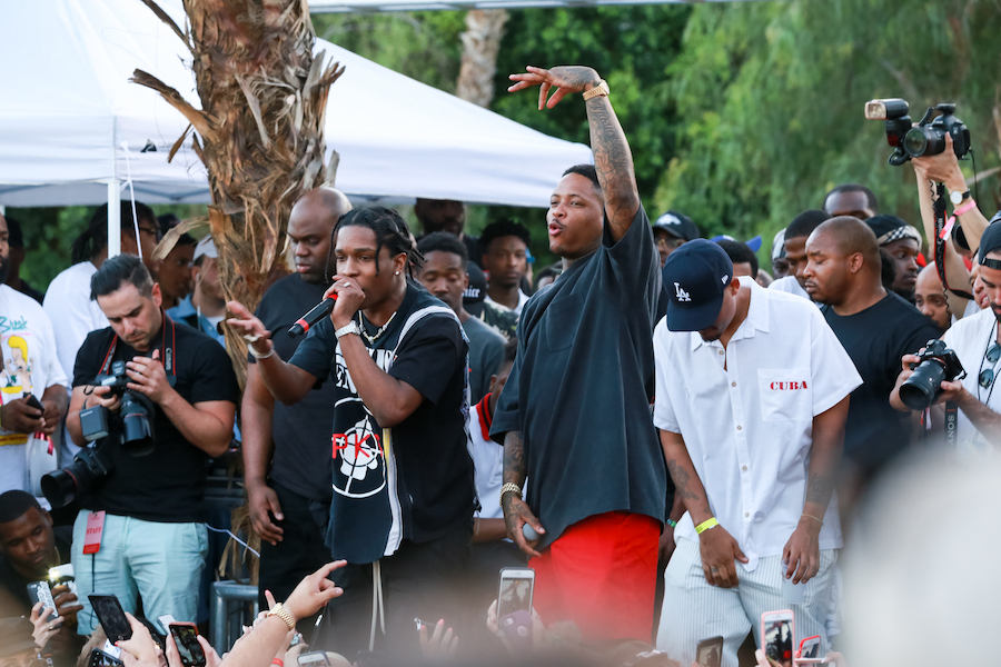 ASAP Rocky and YG Perform at the #REVOLVEfestival Day 2 on April 15, 2018 in La Quinta, California