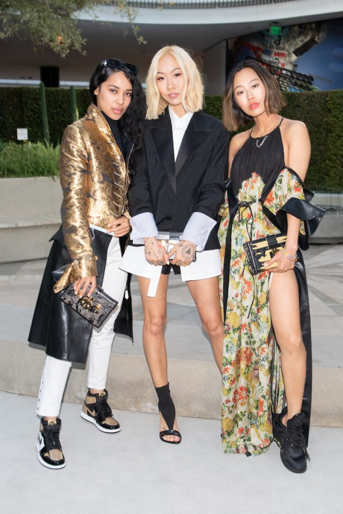Aleali May, Dani Song, Aimee Song at the LV Time Capsule Opening Cocktail Party at Westfield Century City