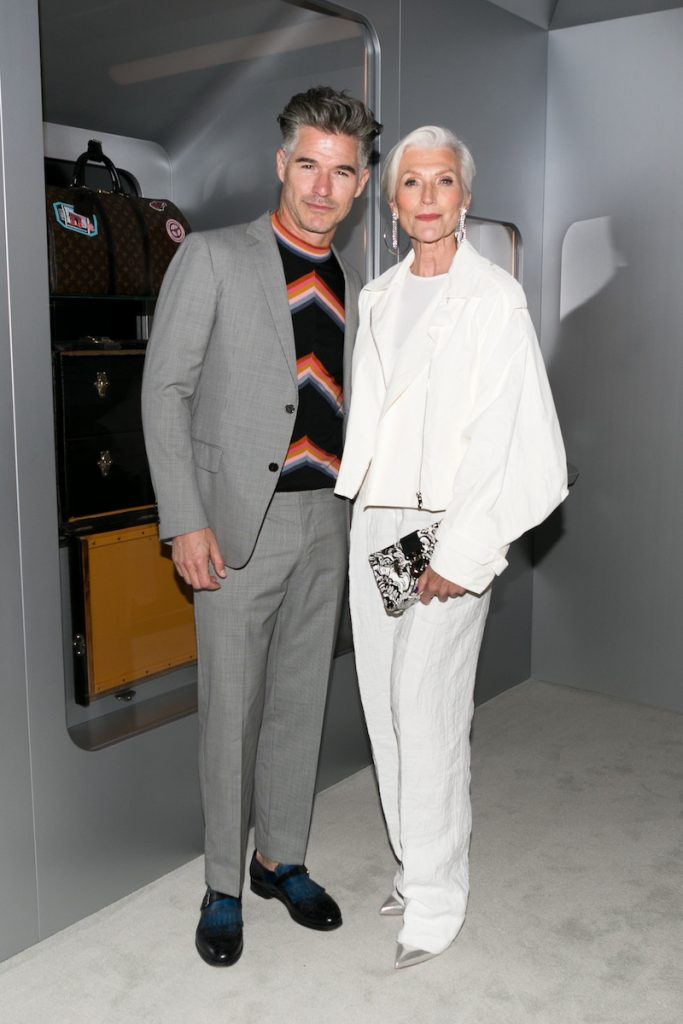 Eric Rutherford, and Maye Muskat at the LV Time Capsule Opening Cocktail Party at Westfield Century City