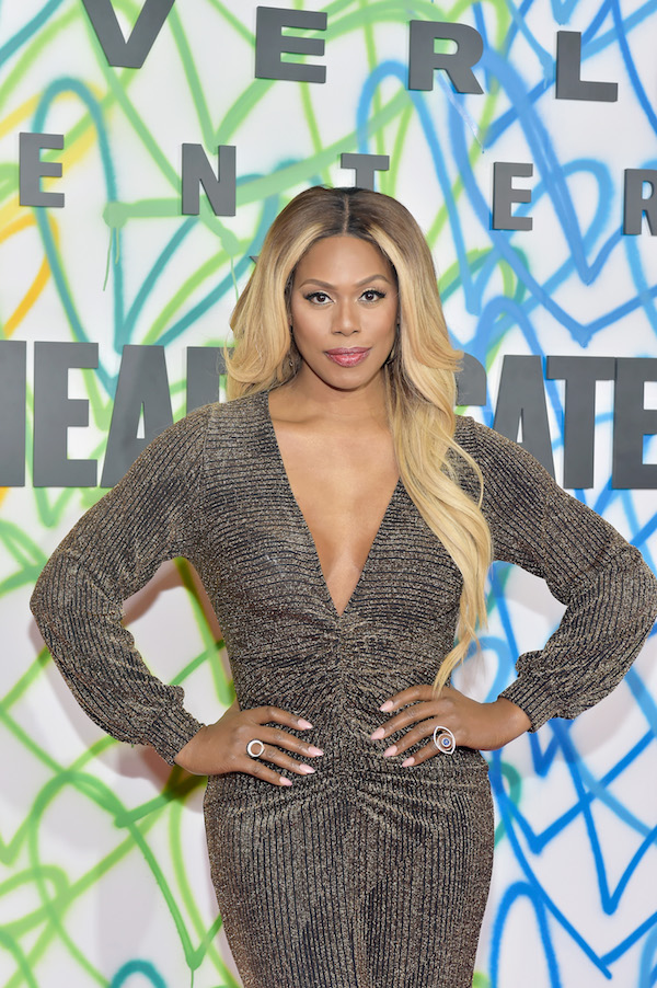 Laverne Cox celebrates at Beverly Center and The Advocate's Champions of PRIDE Event on June 1, 2018 in Los Angeles, California