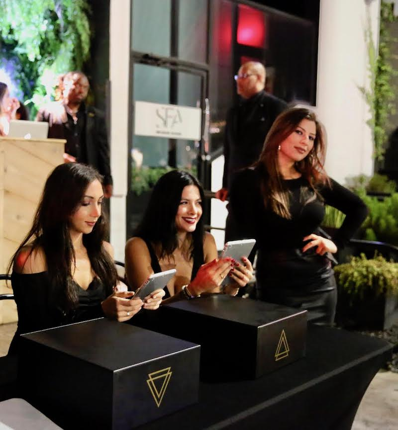 Co-Founder of VIPER by KCH, Celeste Durve, and the VIPER Girls check-in Guests at the  IGA X BET Awards Party 2018 on June 24, 2018 in Los Angeles, California