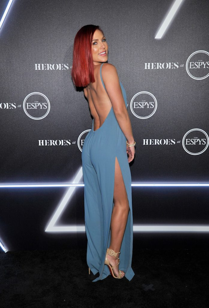 Sharna Burgess attends HEROES at The ESPYS at City Market Social House on July 17, 2018 in Los Angeles, California