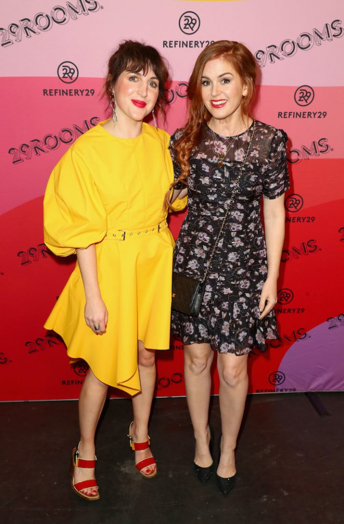 Refinery29 Creative Director Piera Gelardi (L) and Isla Fisher attend Refinery29 Presents 29Rooms Los Angeles 2018: Expand Your Reality at The Reef on December 4, 2018 in Los Angeles, California