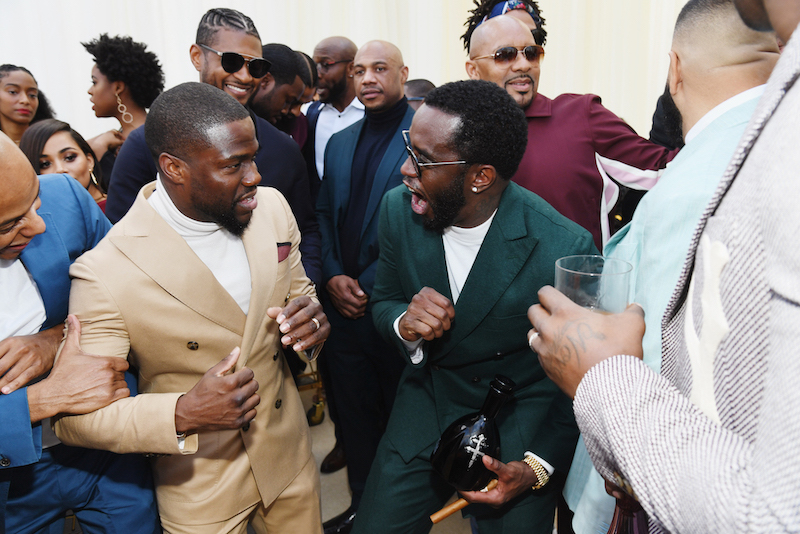 Kevin Hart, Usher and Diddy attend 2019 Roc Nation THE BRUNCH on February 9, 2019 in Los Angeles, California