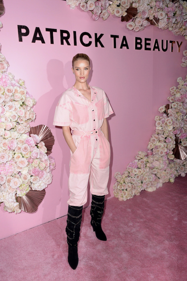 Rosie Huntington-Whiteley attends Patrick Ta Beauty Launch on April 4, 2019 in Los Angeles, California