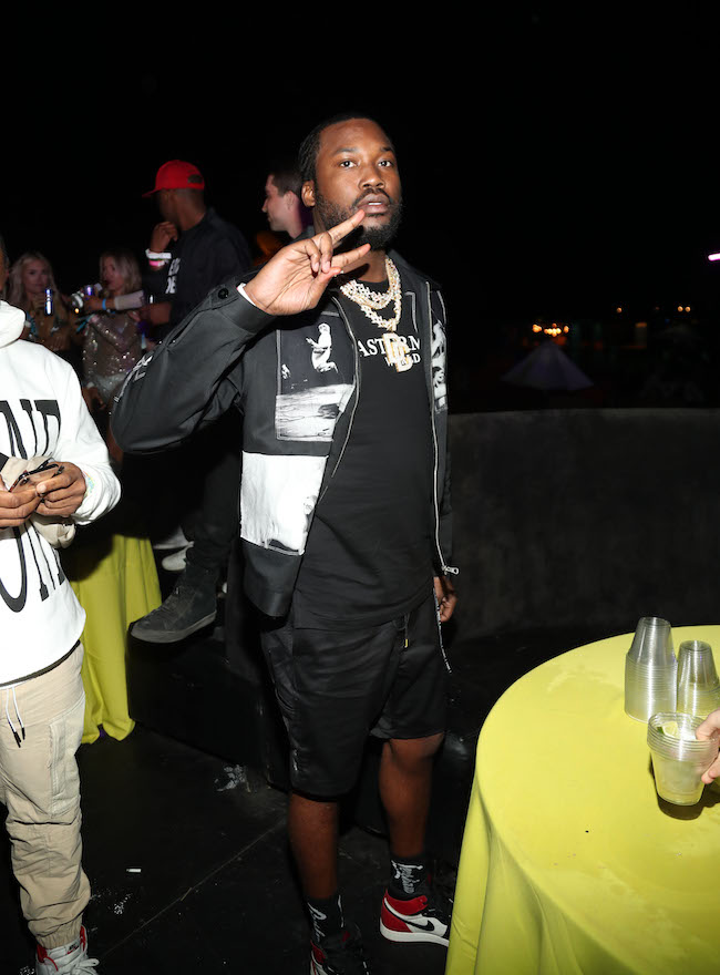 Meek Mill attends the Levi's Brand Presents Neon Carnival with Bondi Sands and POKÉMON: Detective Pikachu on April 13, 2019 in Thermal, California
