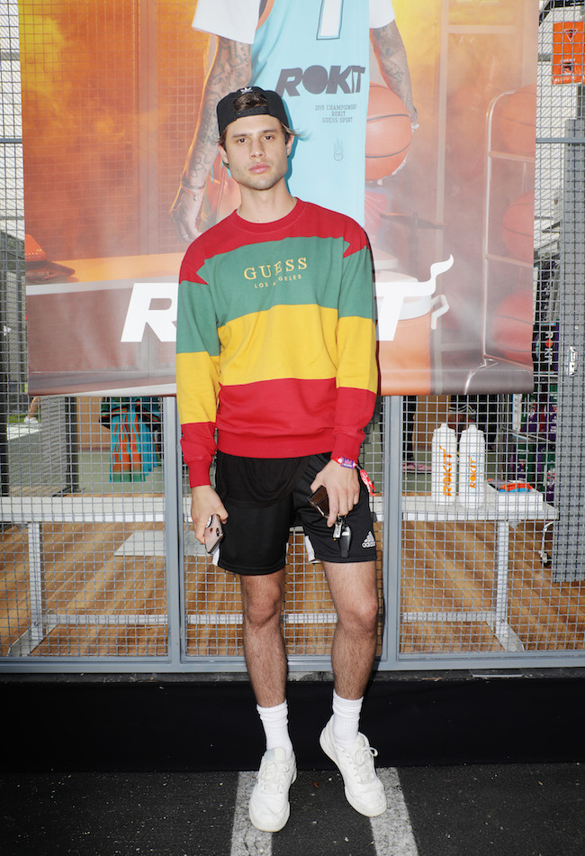 Bryce Dettloff attends GUESS JEANS U.S.A. Hosts GUESS SPORT Field Day Experience on August 24, 2019 in Los Angeles, California