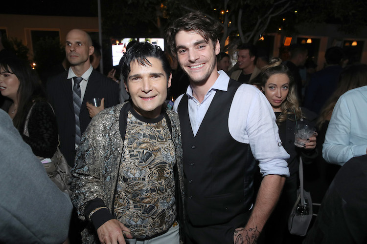 Corey Feldman and RJ Mitte attend WE tv Celebrates the 100th Episode of the
