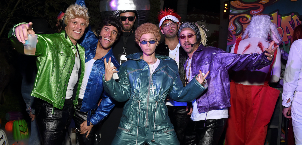 Jessica Biel Dresses as Hubby Justin Timberlake at the Casamigos Star Studded Annual Halloween Party