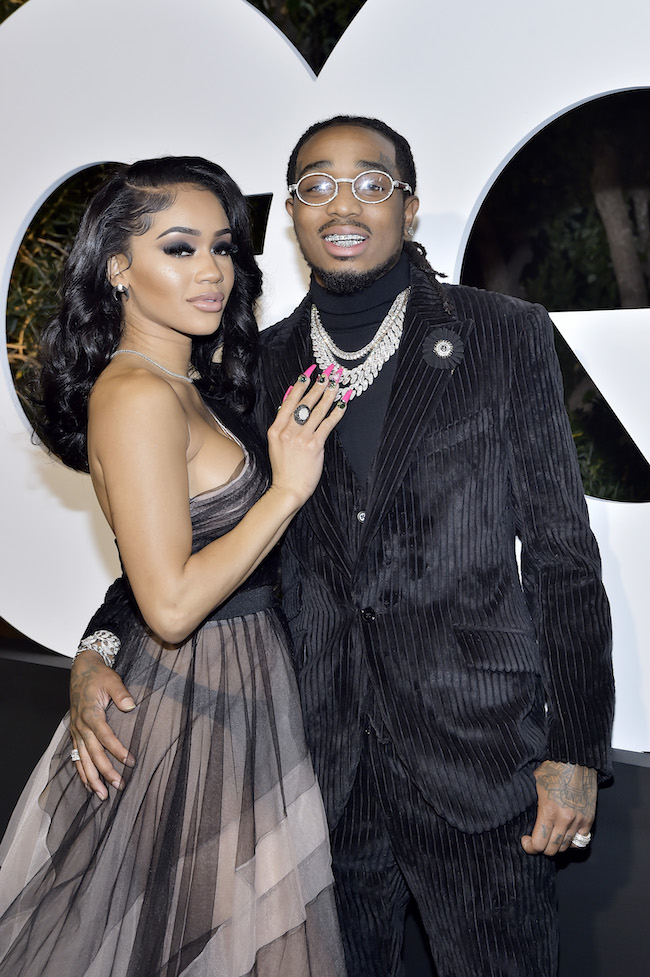 Saweetie and Quavo attends the 2019 GQ Men Of The Year Celebration At The West Hollywood EDITION on December 05, 2019 in West Hollywood, California