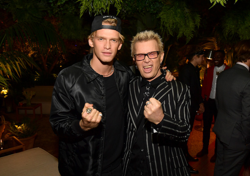 L-R) Cody Simpson and Billy Idol attend the 2019 GQ Men of the Year celebration at The West Hollywood EDITION on December 05, 2019 in West Hollywood, California