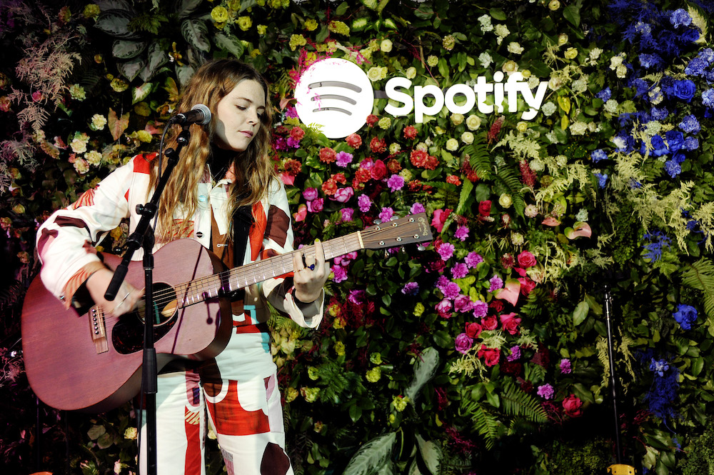 Maggie Rogers performs onstage during Spotify Celebrates A Decade Of Wrapped With Maggie Rogers, LA on December 09, 2019 in Los Angeles, California