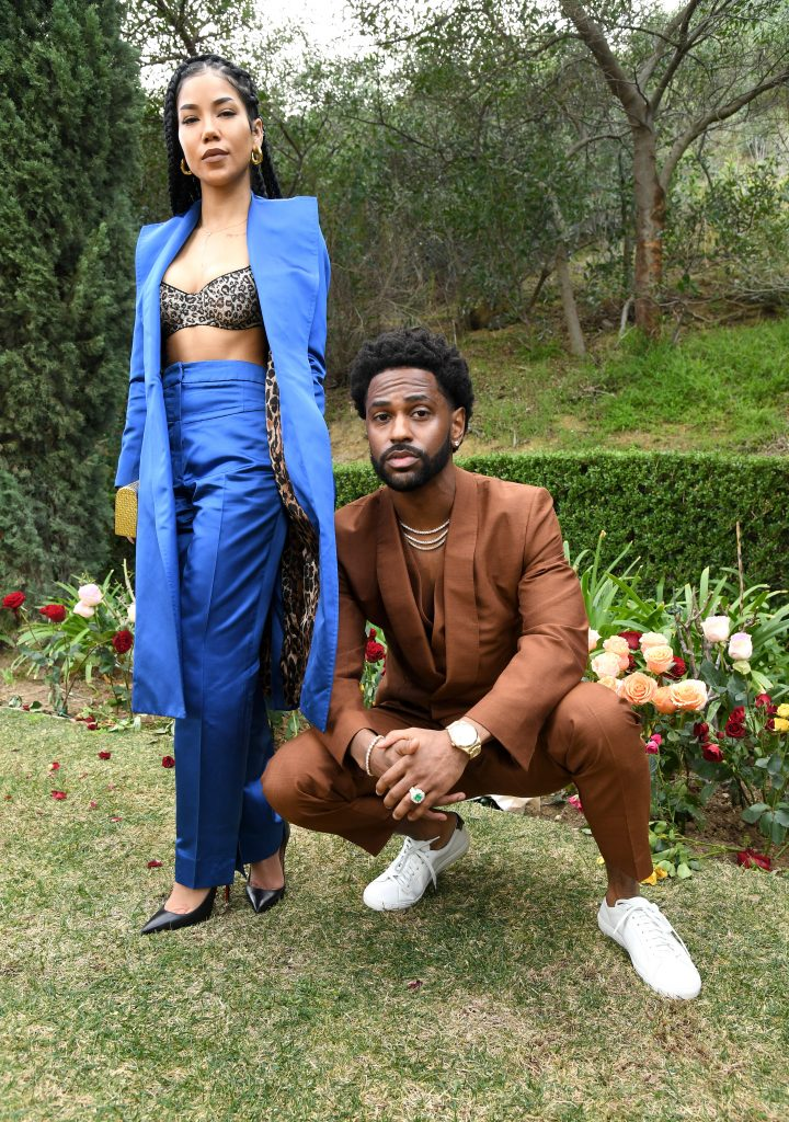 (L-R) Jhené Aiko and Big Sean attend 2020 Roc Nation THE BRUNCH on January 25, 2020 in Los Angeles, California