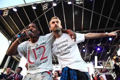 (Cover) A$AP Rocky + A-trak at Fool's Gold Day Off 2016 in Los Angeles